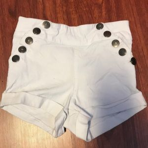 High waisted super stretchy white shorts